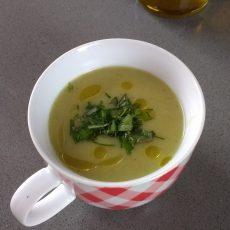 Bladselderij soep