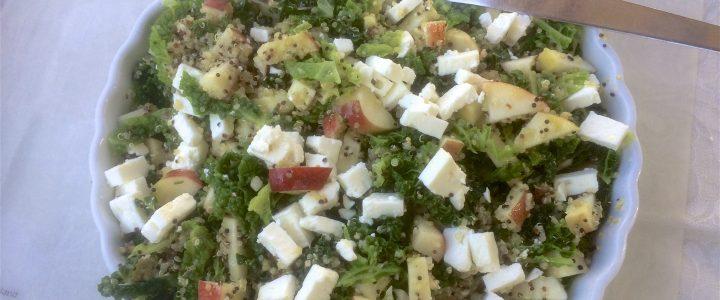 Quinoa/savooiekoolsalade