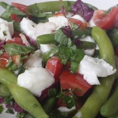 Sperziebonen salade met mozzarella