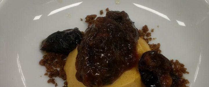 Nagerecht  – Pudding van pompoen met pruim