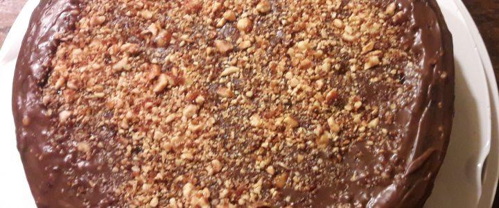Chocolade-hazelnoot taart