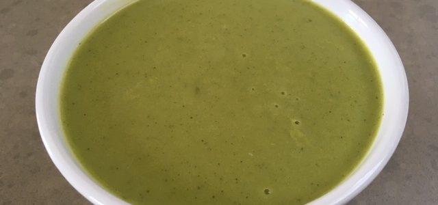 Mosterdblad-Courgette soep